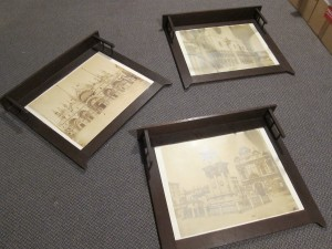 three arts & crafts picture frames